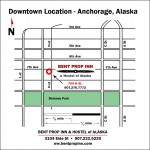 Downtown Anchorage Location Map for Bent Prop Inn & hostel of Alaska